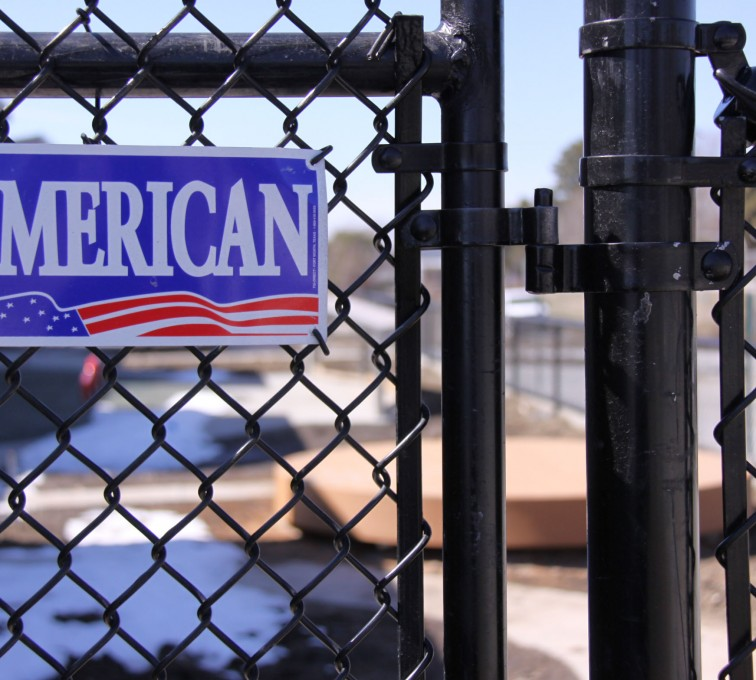 The American Fence Company - Chain Link Fencing, Black Vinyl Chain Link Gate