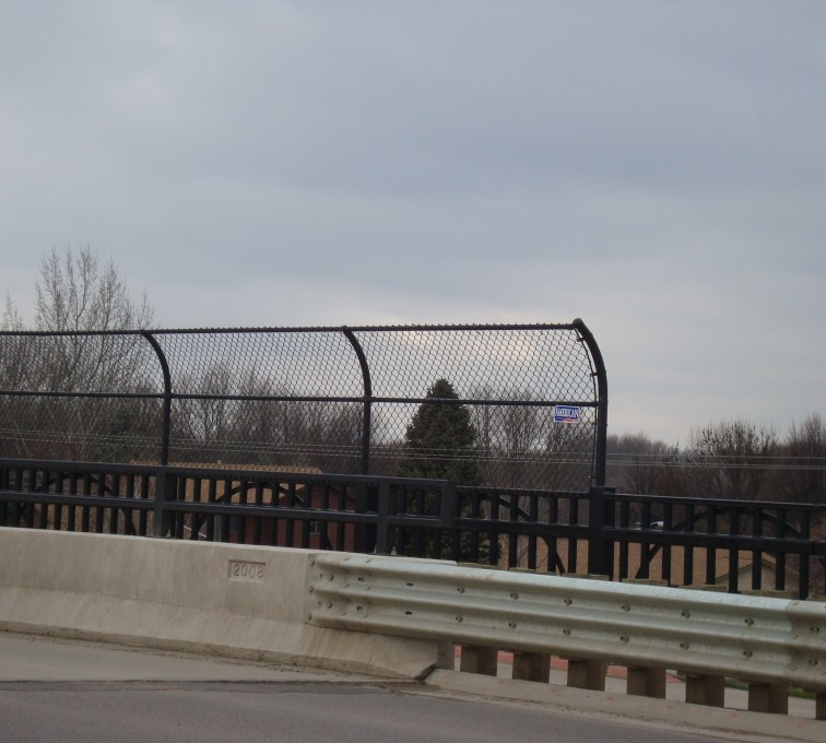 The American Fence Company - Chain Link Fencing, Black Vinyl Chain Link Pedestrian Canopy AFC, SD