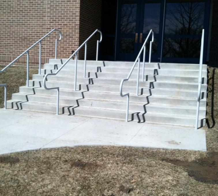 The American Fence Company - Custom Railing, Custom Galvanized Handrail 3 - AFC - IA