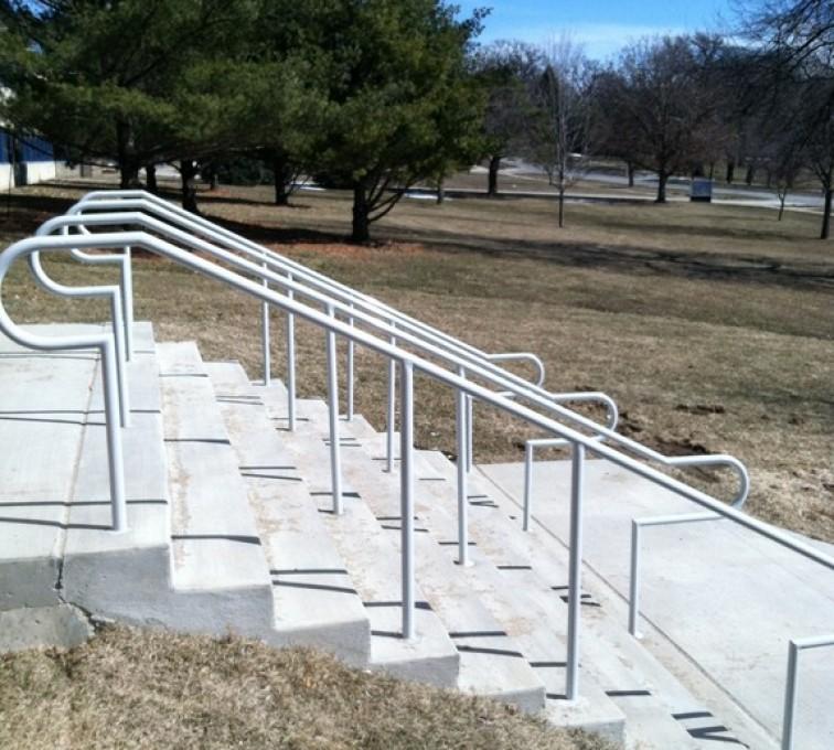 The American Fence Company - Custom Railing, Custom Galvanized Handrail 4 - AFC - IA