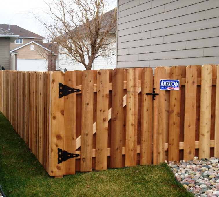 The American Fence Company - Wood Fencing, Cedar Board on Board, AFC, SD