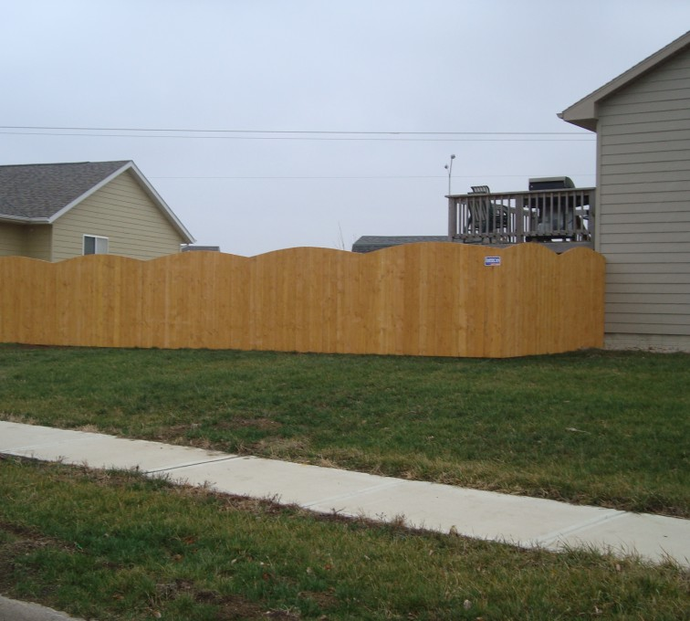 The American Fence Company - Wood Fencing, Cedar Privacy Overscallop AFC, SD
