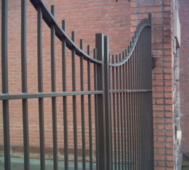The American Fence Company - Custom Gates, Courtyard Under Arch Estate Gate