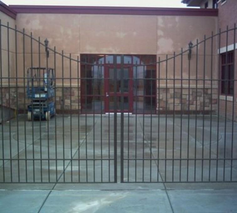 The American Fence Company - Custom Gates, Courtyard Under Arch Gate