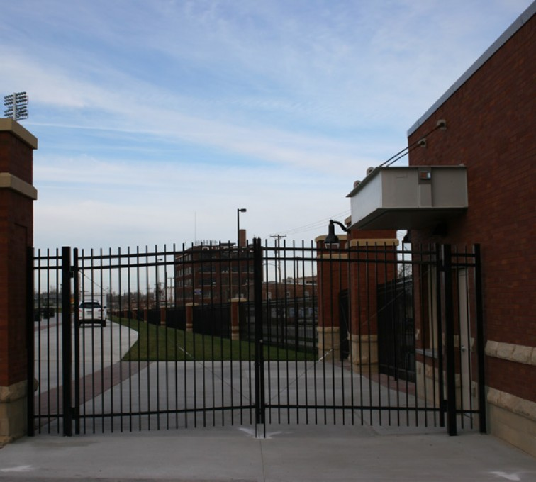 The American Fence Company - Custom Gates, Creighton Soccer Gates 3