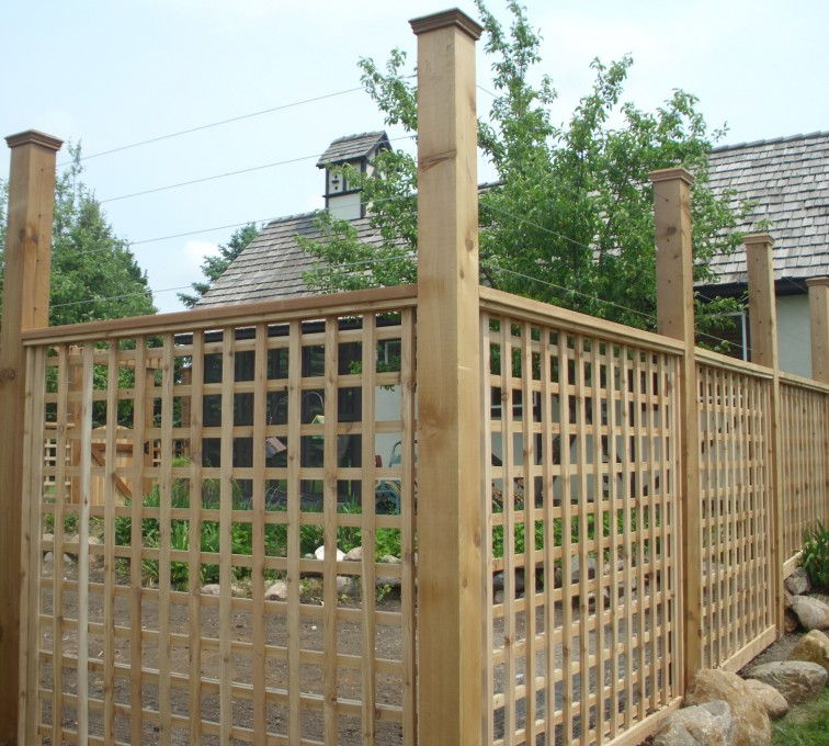 The American Fence Company - Wood Fencing, Custom Garden Fence 2 AFC, SD