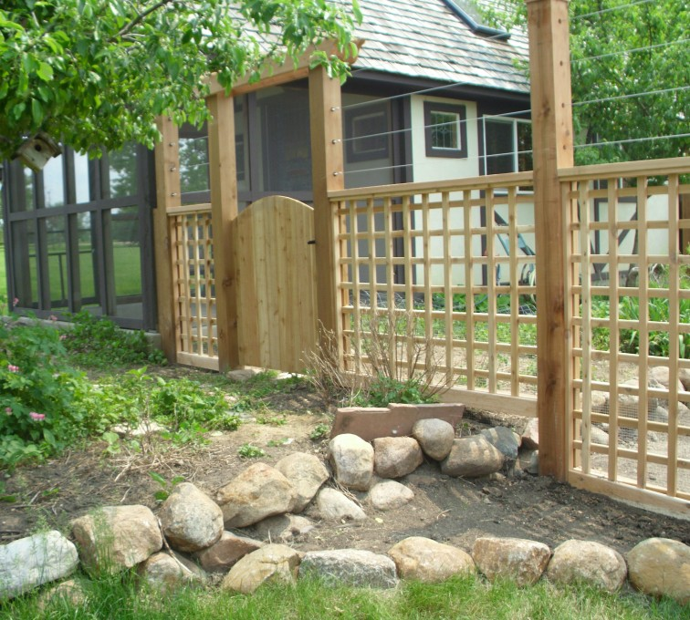 The American Fence Company - Wood Fencing, Custom Garden Fence AFC, SD