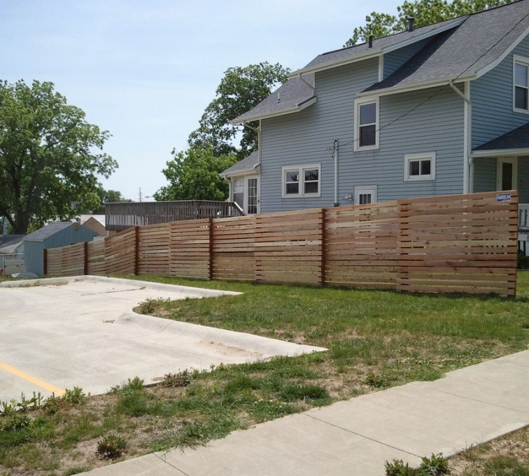 The American Fence Company - Wood Fencing, 6' Horizontal Picket - AFC - IA