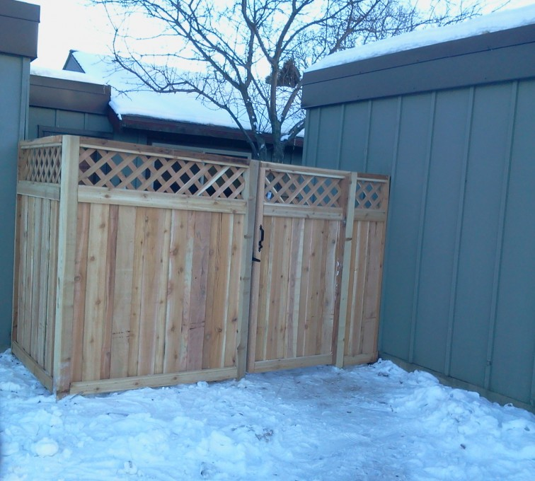 The American Fence Company - Wood Fencing, Custom Wood Privacy with Lattice AFC, SD