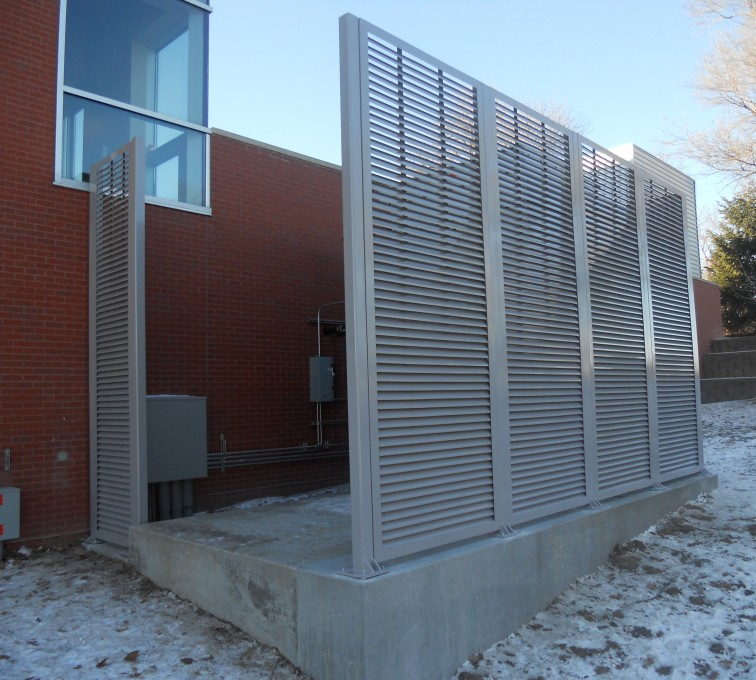 Louvered Fence Screen System