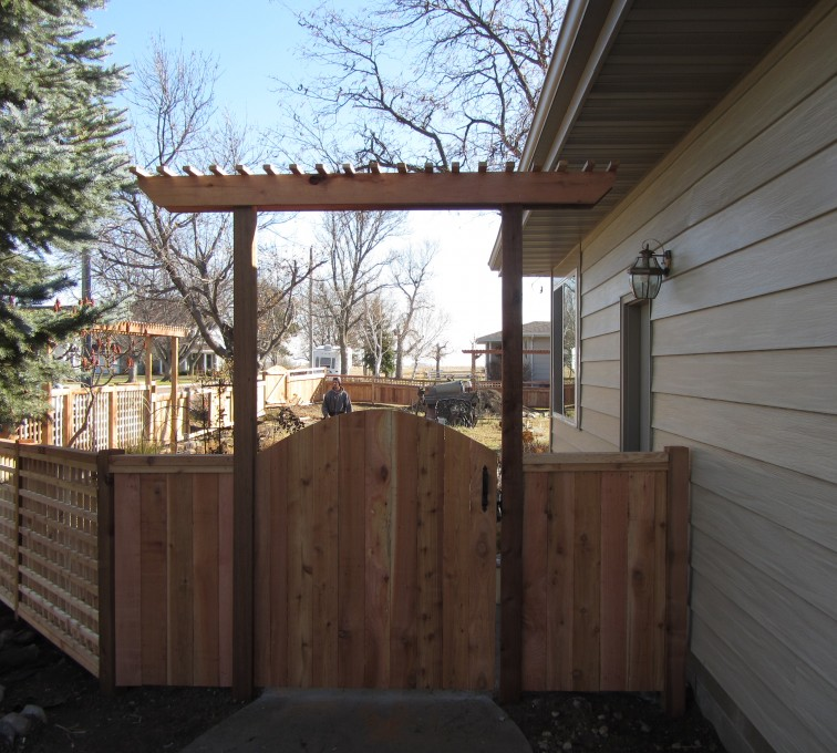 The American Fence Company - Wood Fencing, Decorative Cedar Gate AFC, SD