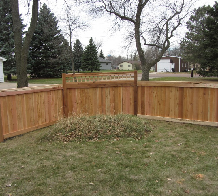 The American Fence Company - Wood Fencing, Decorative Cedar Privacy with Picket Accent AFC, SD