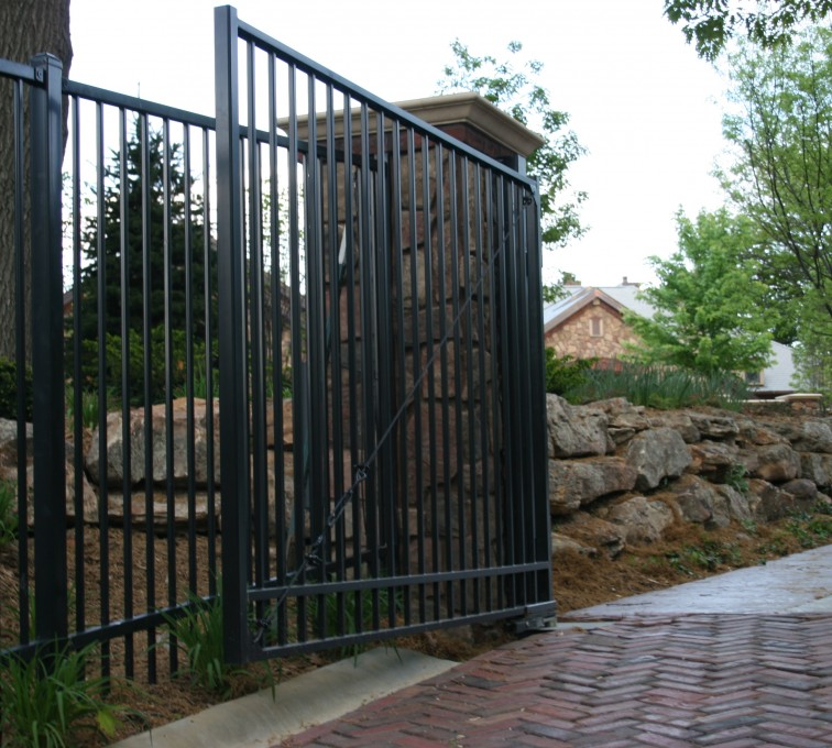 The American Fence Company - Custom Gates, Estate Double Drive Gate