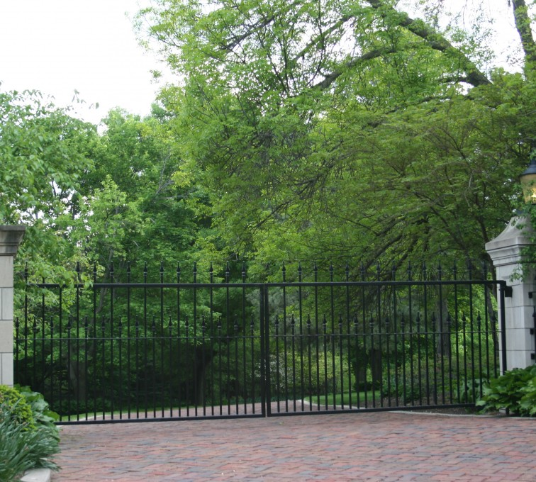 The American Fence Company - Custom Gates, Estate Straight Double Drive Gate