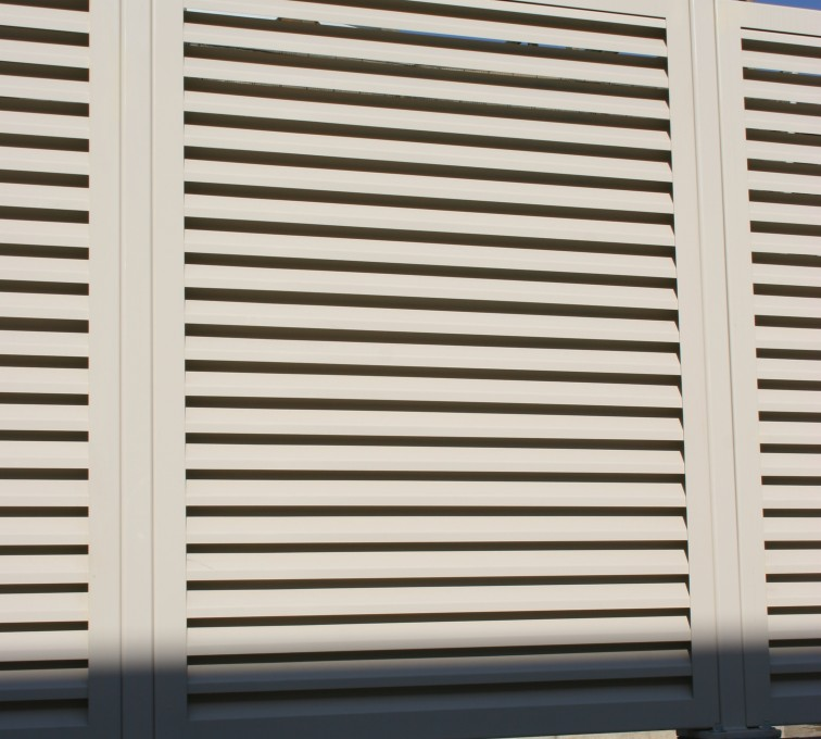 The American Fence Company - Louvered Fence Systems Fencing, Louvered Fence Panel