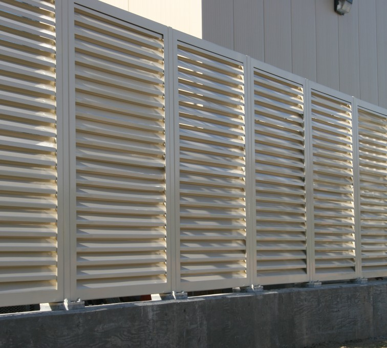 Louvered Fence Systems Fencing, Louvered Fence Panel System In Tan