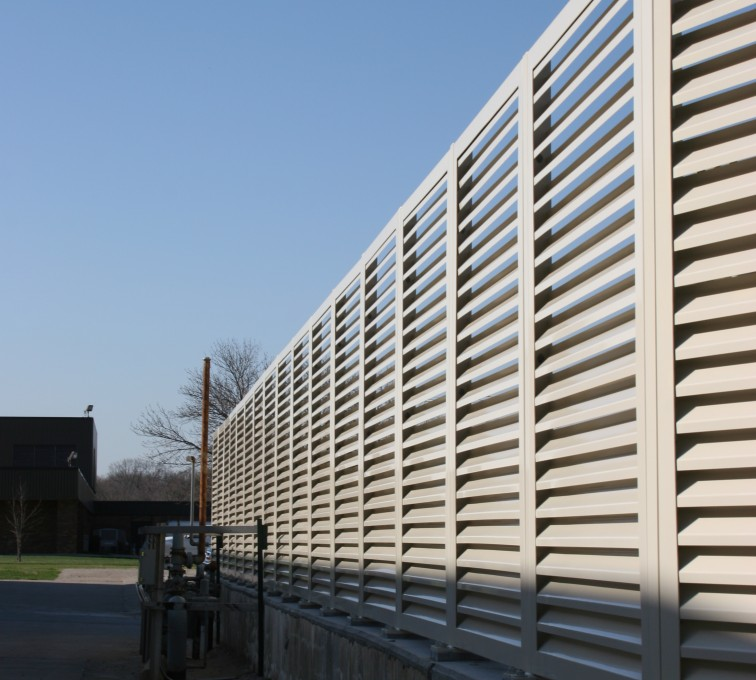 The American Fence Company - Louvered Screen Systems Fencing, Louvered Fence Panel Top Cap