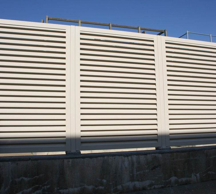 Mechanical Equipment Louvered Fence Systems Fencing, Louvered Fence System