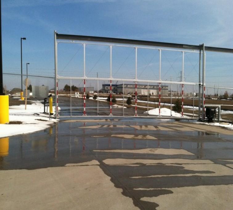 The American Fence Company - Custom Gates, Overhead Track Gate - AFC - IA