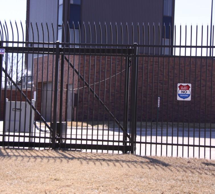 The American Fence Company - Custom Gates, Ornamental Slide Gate (2)