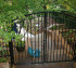 The American Fence Company - Custom Gates, Over Arch Residential Walk Gate
