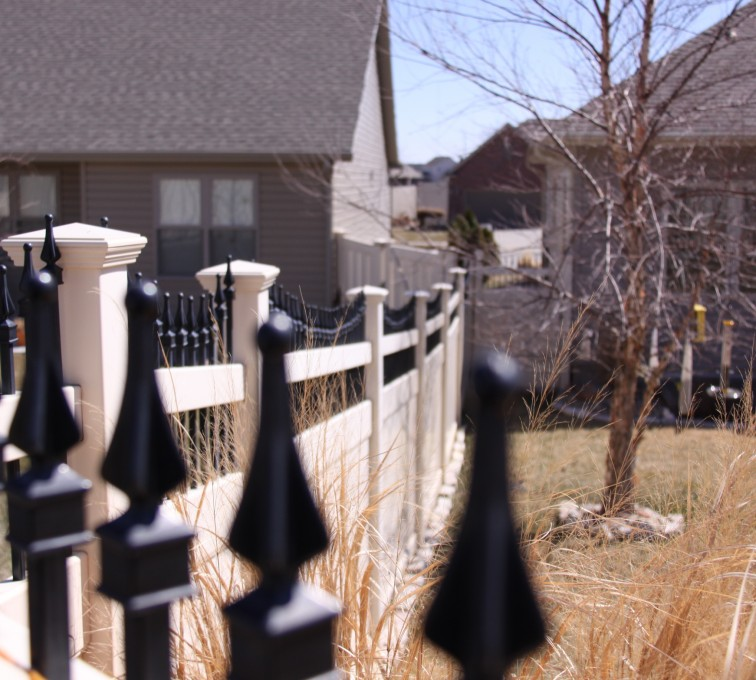 The American Fence Company - Vinyl Fencing, PVC with Steel Pic Accent #2