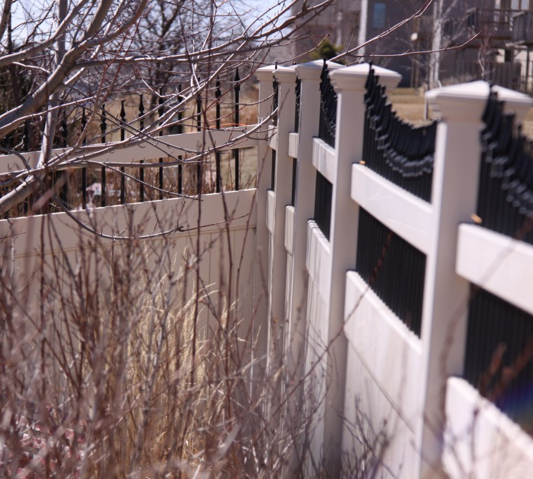 The American Fence Company - Vinyl Fencing, PVC with Steel Pic Accent #6