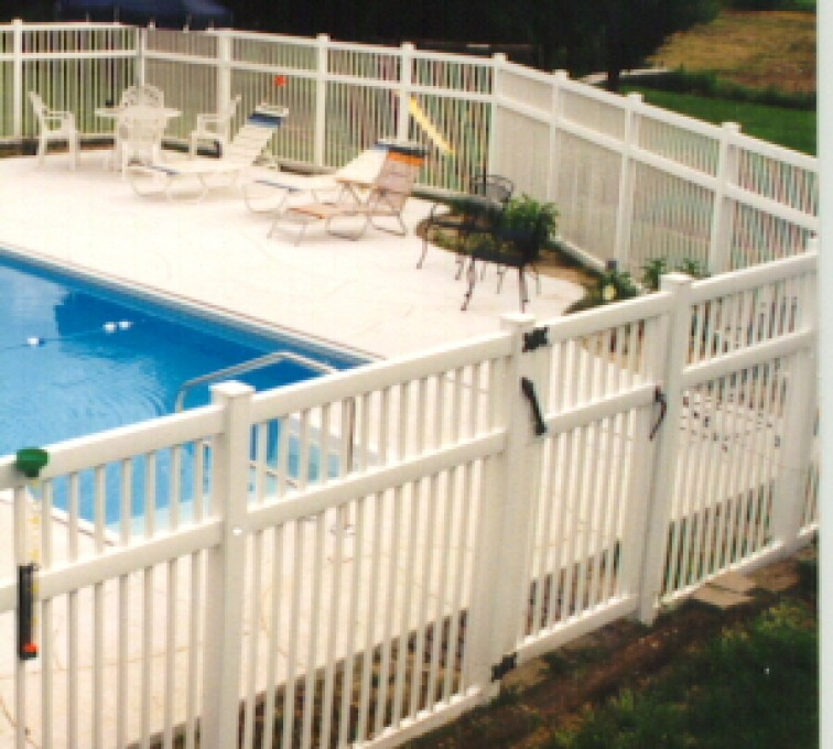 The American Fence Company - Vinyl Fencing, Pool Style Picket with 3 rails 583