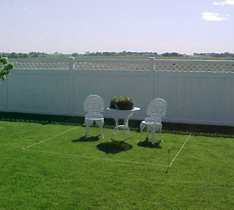 The American Fence Company - Vinyl Fencing, Privach with lattice (656)