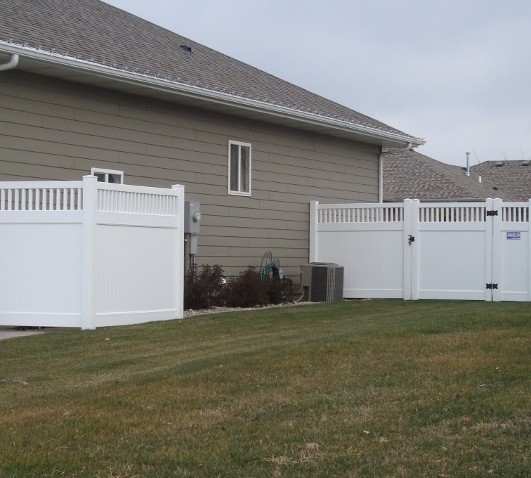The American Fence Company - Vinyl Fencing, Privacy with Picket Accent