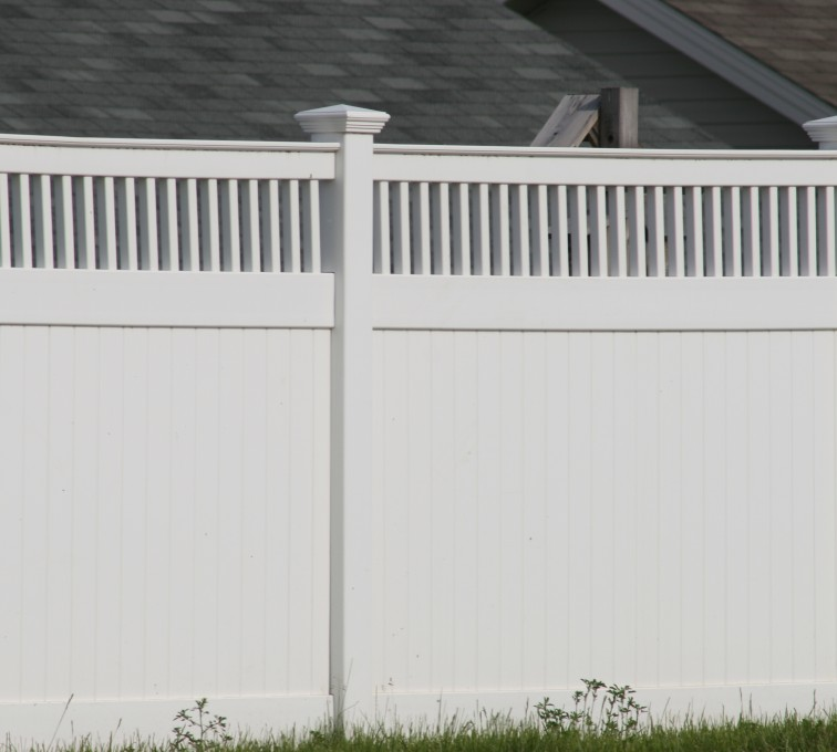 The American Fence Company - Vinyl Fencing, Privacy with Picket Accent 700
