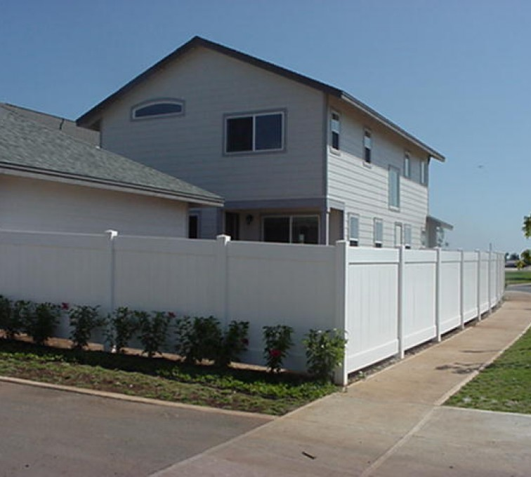 The American Fence Company - Vinyl Fencing, Solid Privacy (611)