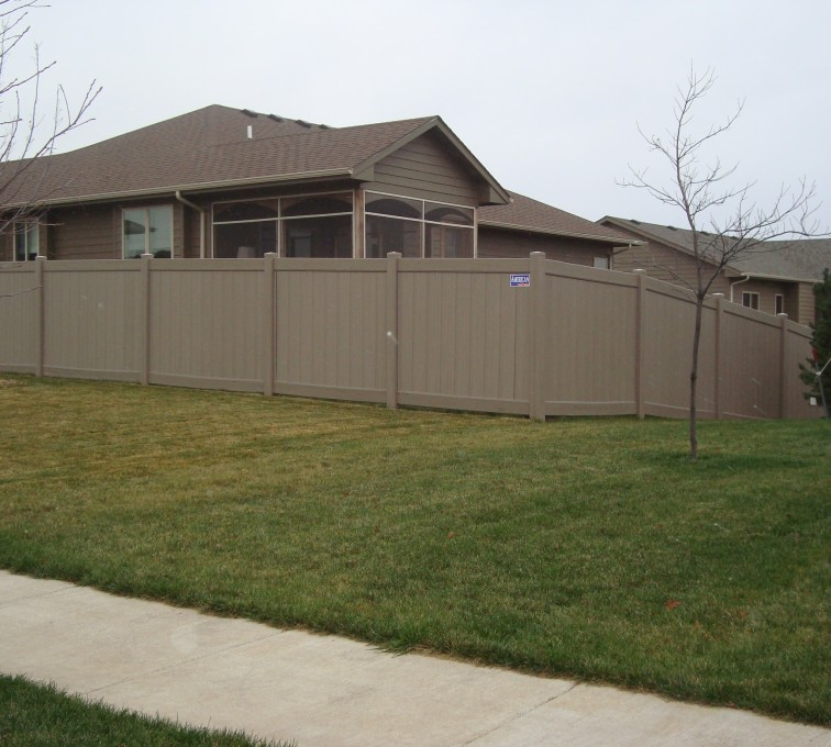 The American Fence Company - Vinyl Fencing, Solid Privacy - Woodland Select
