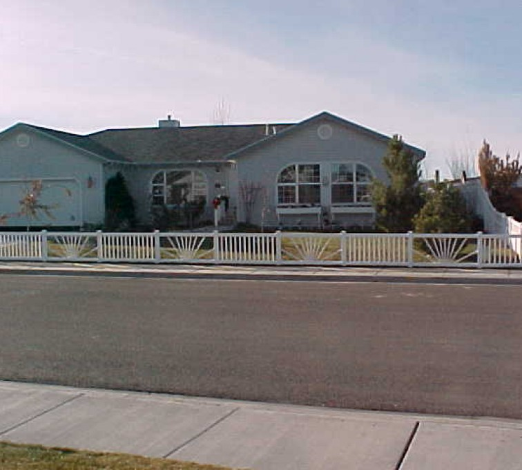The American Fence Company - Vinyl Fencing, Sunburst closed picket 575