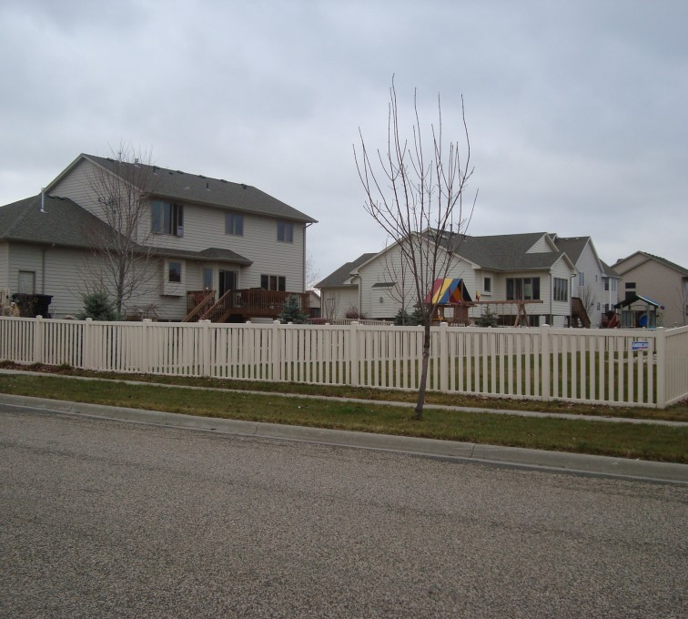 The American Fence Company - Vinyl Fencing, Tan Vinyl Closed Picket AFC, SD