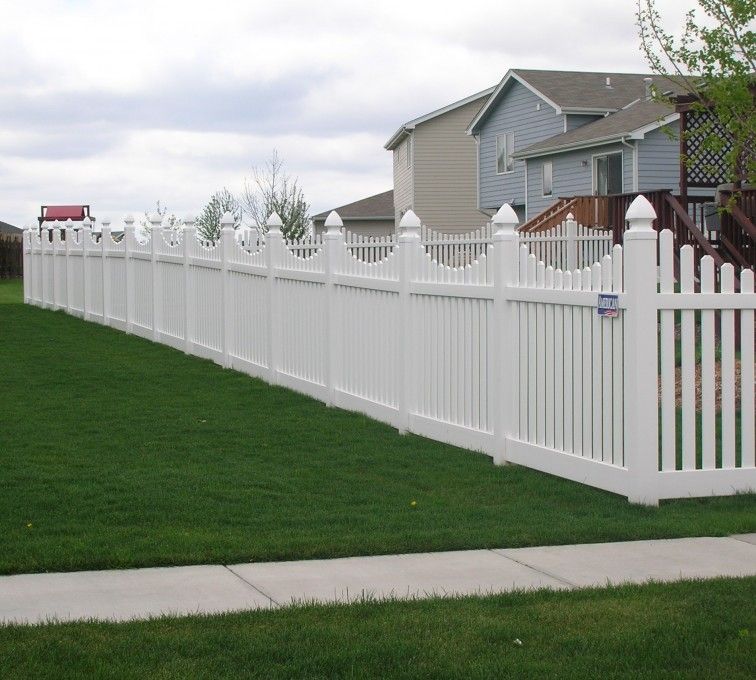 The American Fence Company - Vinyl Fencing, Underscallop picket pvc