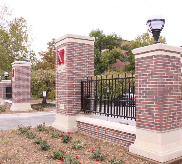 The American Fence Company - Custom Iron Gate Fencing, University of Nebraska East Entrance