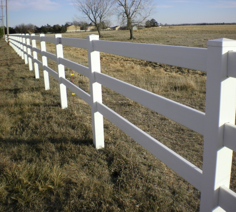 The American Fence Company - Vinyl Fencing, 3' Rail Ranch - AFC - Grand Island