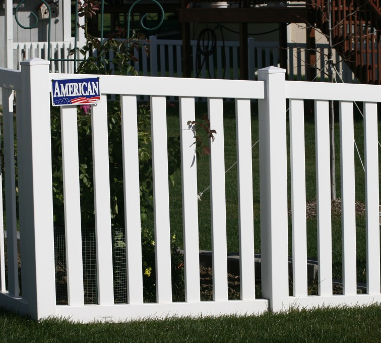 The American Fence Company - Vinyl Fencing, 4' closed rail picket 585