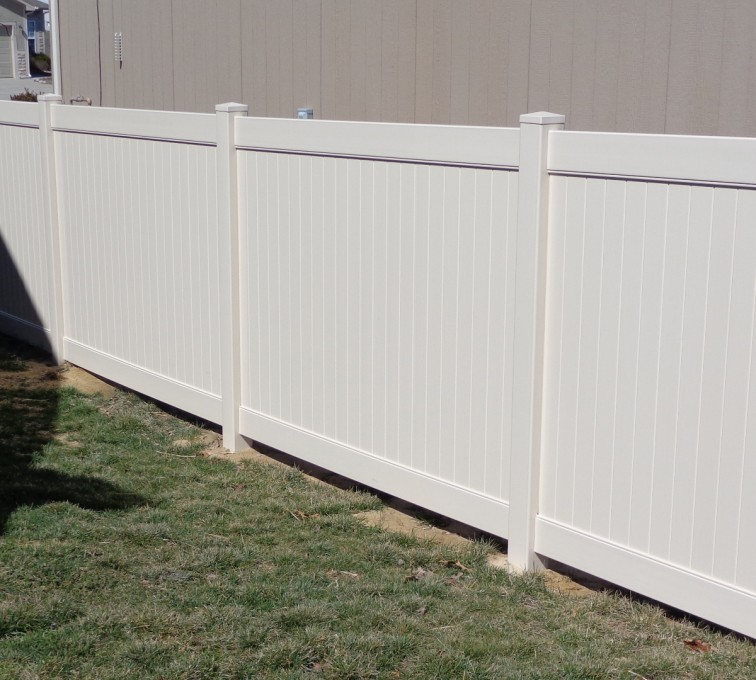 The American Fence Company - Vinyl Fencing, 6' Tan Privacy - AFC-KC