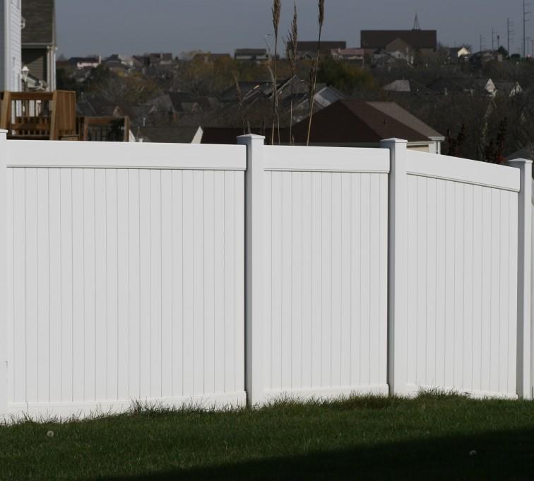 The American Fence Company - Vinyl Fencing, Vinyl 6' solid (619)