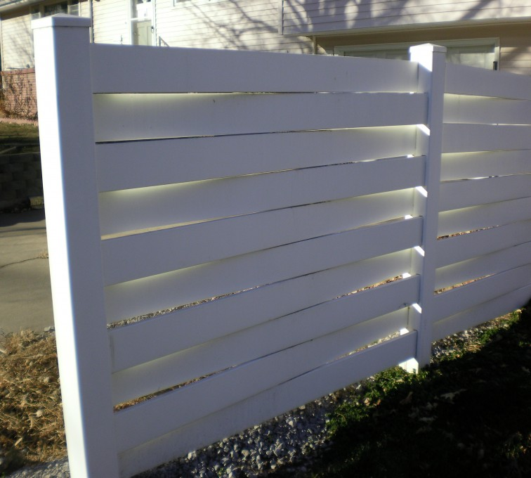 The American Fence Company, Vinyl Fencing, Basket Weave Grand Island