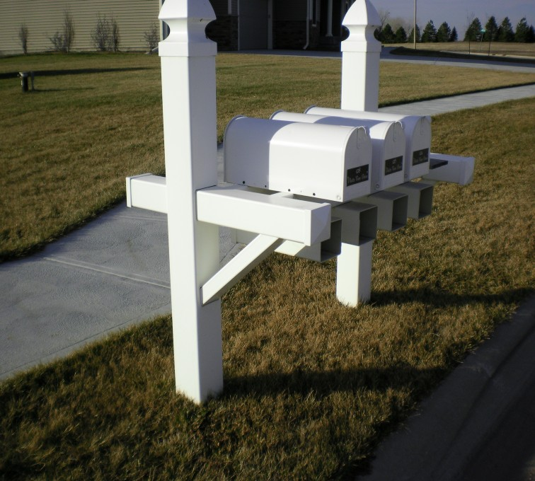 The American Fence Company - Specialty Product Fencing, Vinyl Custom Mailbox - AFC - Grand Island