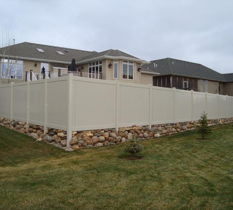 The American Fence Company - Vinyl Fencing, Vinyl Sandstone Privacy AFC, SD