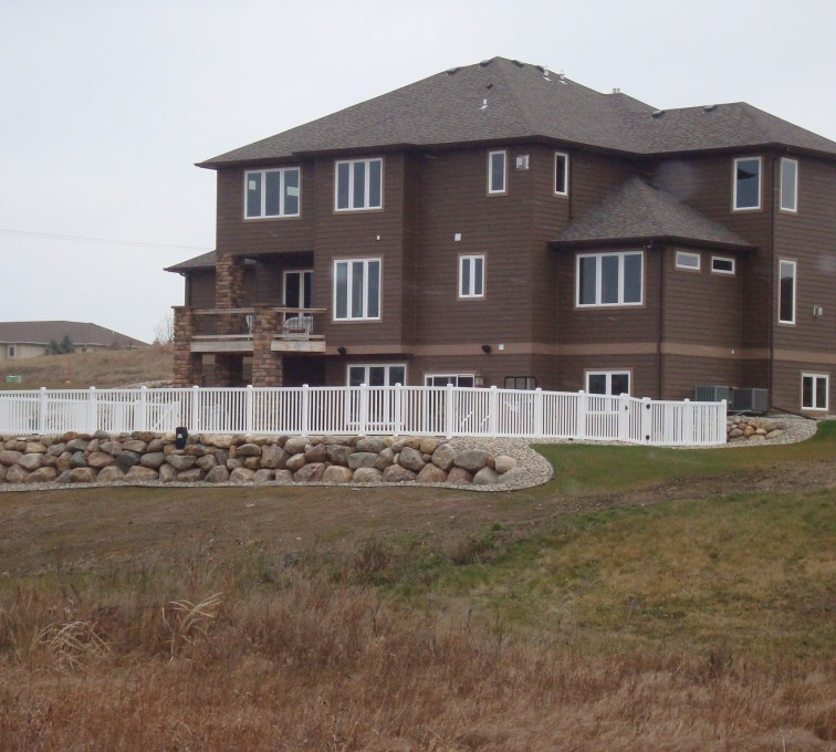 The American Fence Company - Vinyl Fencing, White Closed Picket AFC, SD