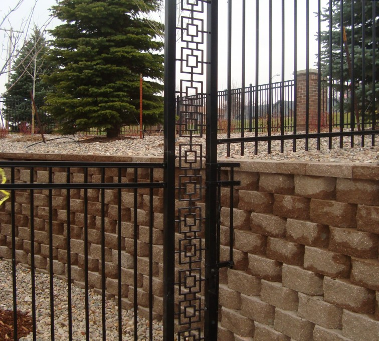 The American Fence Company - Custom Iron Gate Fencing, Window pane transition