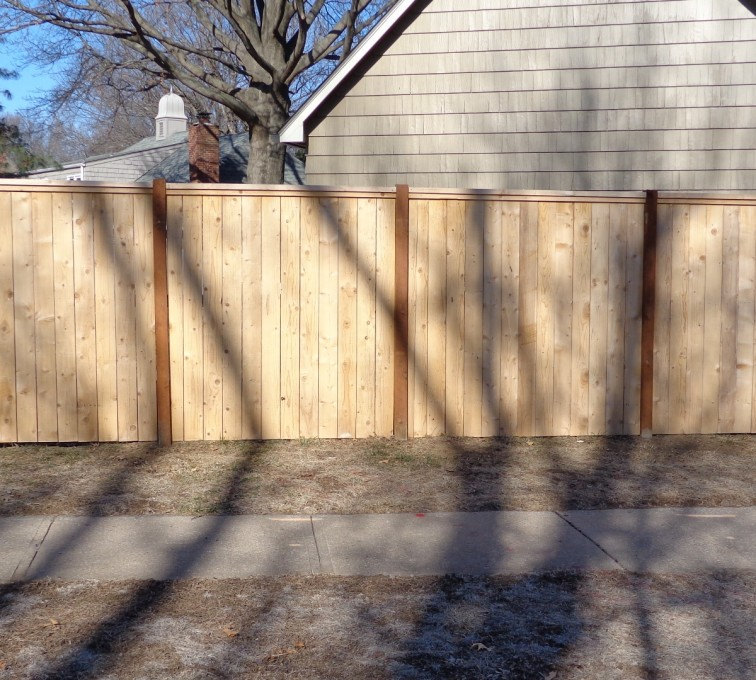 The American Fence Company - Wood Fencing, 6' Privacy with Cap Board - AFC-KC