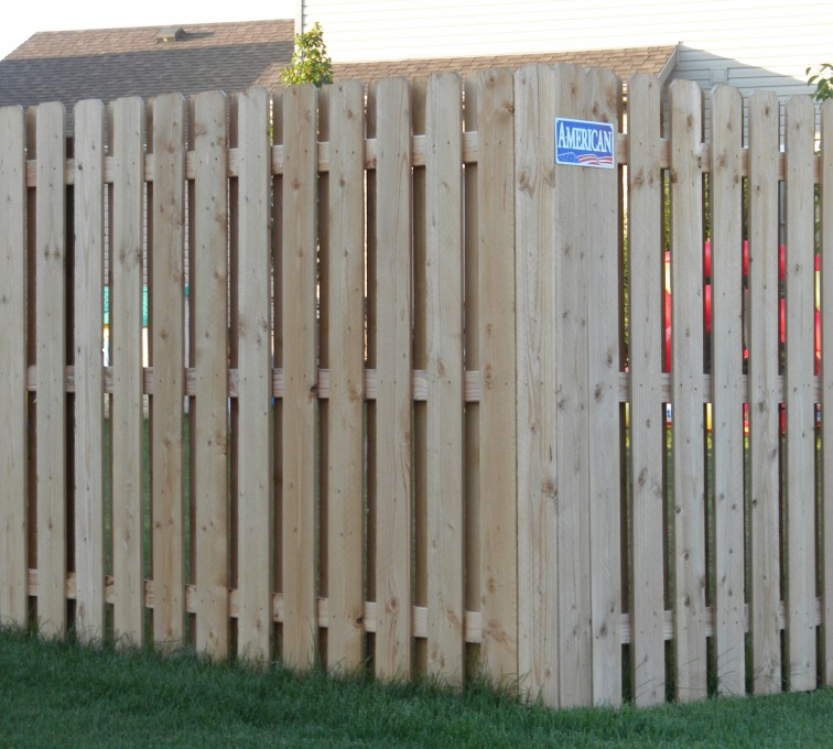 The American Fence Company - Wood Fencing, Wood BOB Fence1