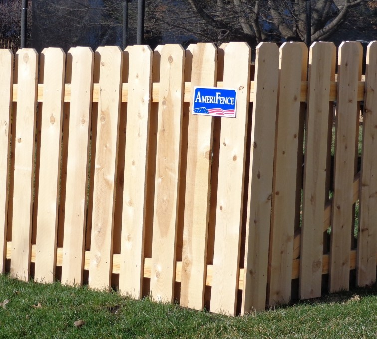 The American Fence Company - Wood Fencing, Board on Board - AFC-KC