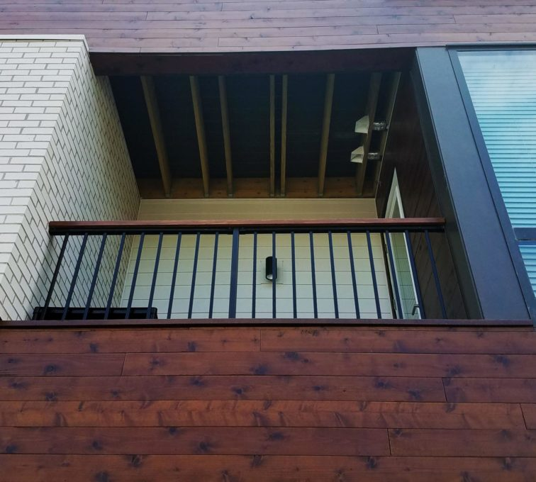 Custom Metal with Wood Accent Deck Railing